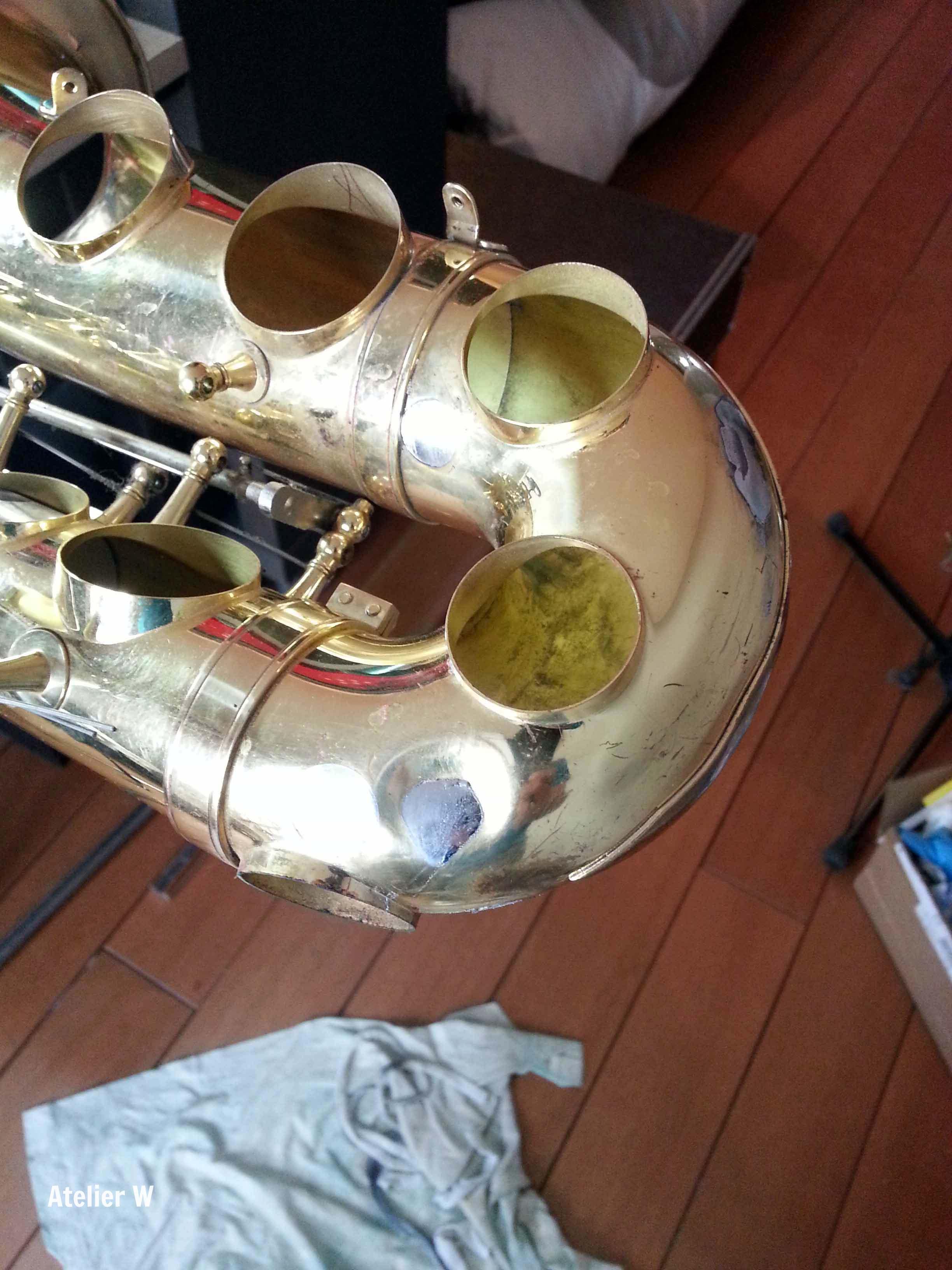 Réparation d'une culasse d'alto Yamaha YAS-21