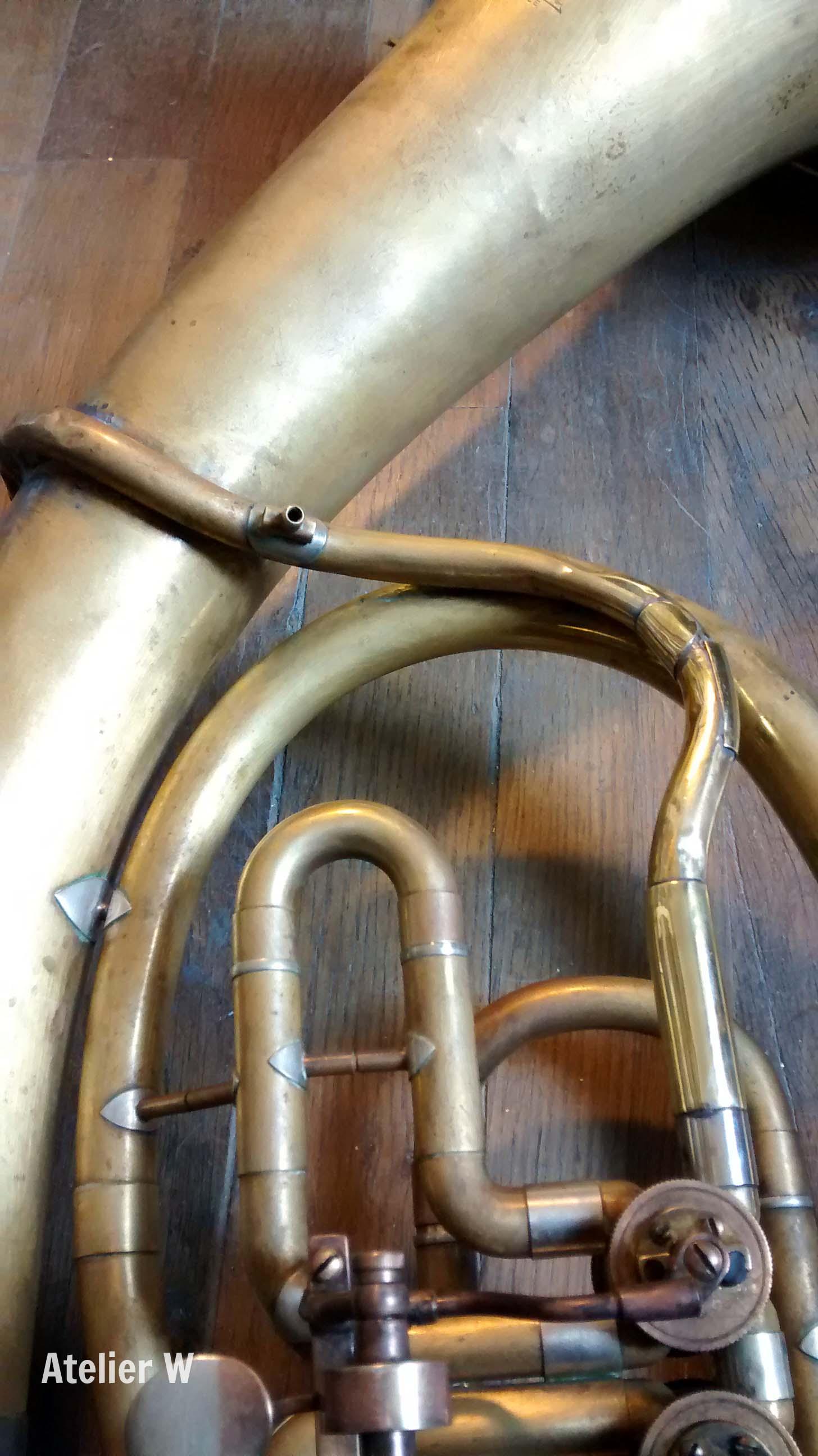 Tuba wagnérien Amati: fabrication d'une branche d'embouchure