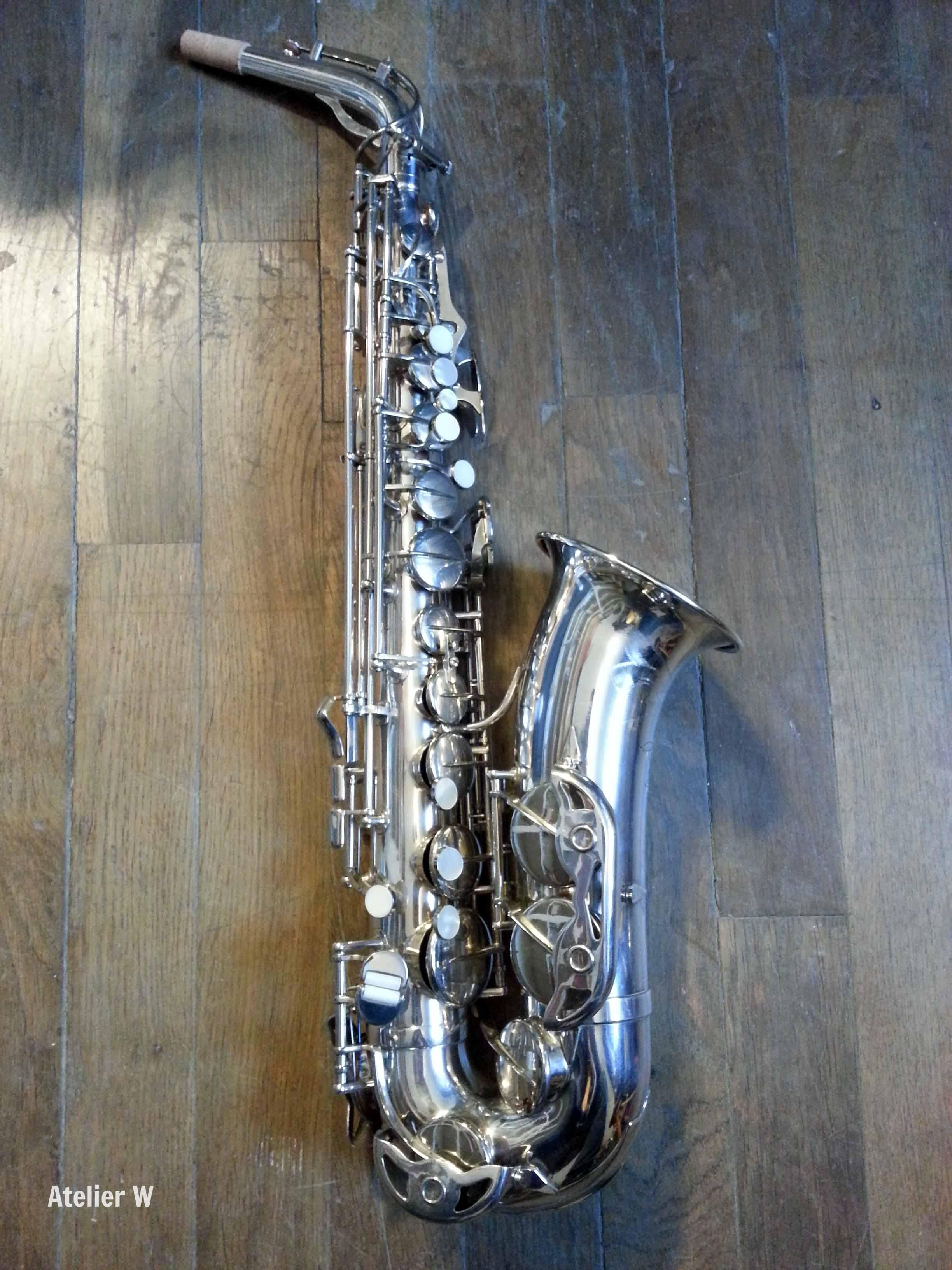 saxophone alto pierret argent pavillon aurifi vendre. Black Bedroom Furniture Sets. Home Design Ideas