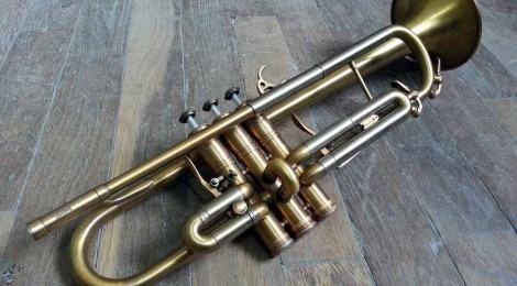 Trompette Courtois 220ML: finition brossée/patinée